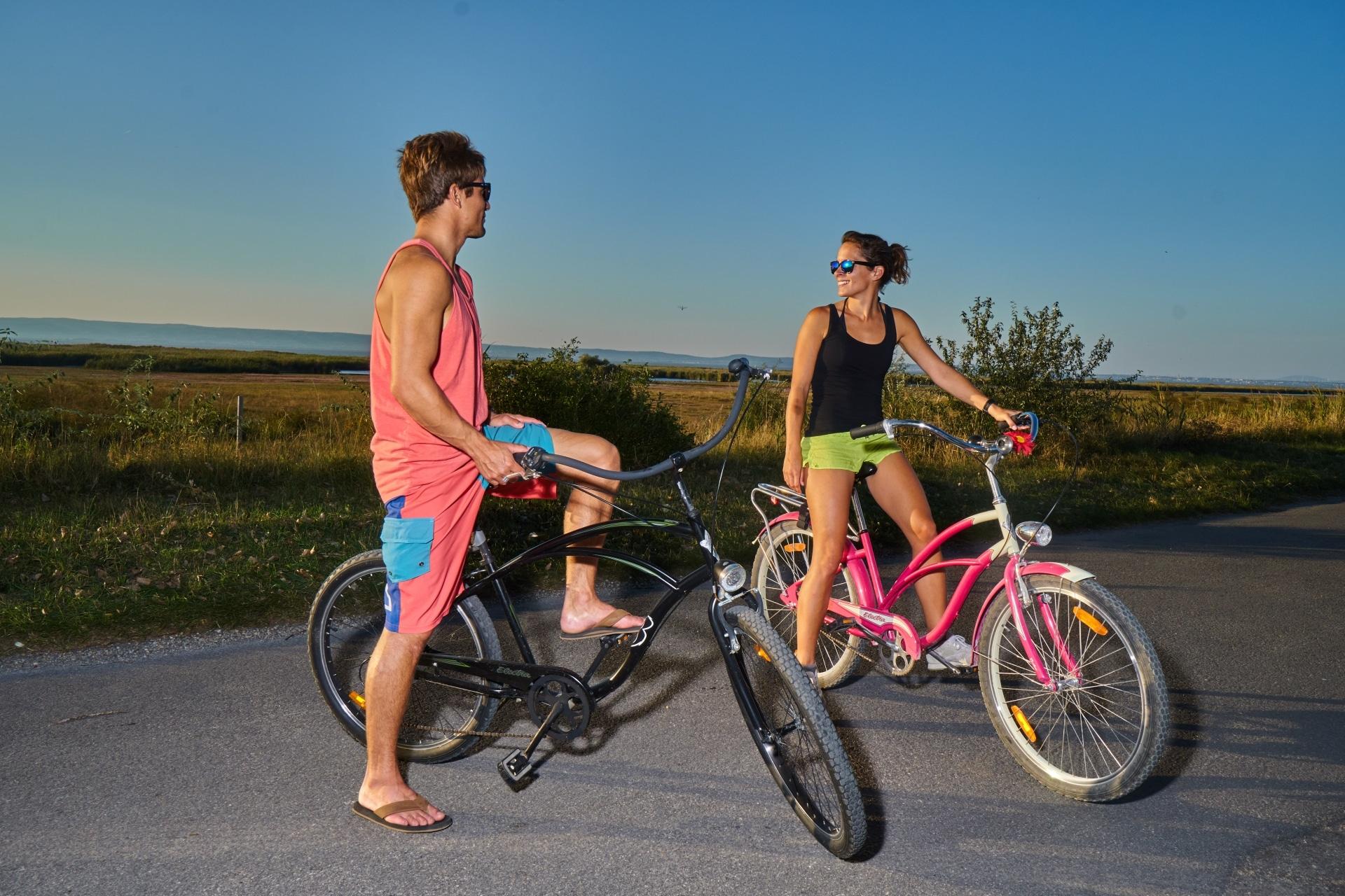 Radfahren rund um den Neusiedlersee, Start in Podersdorf